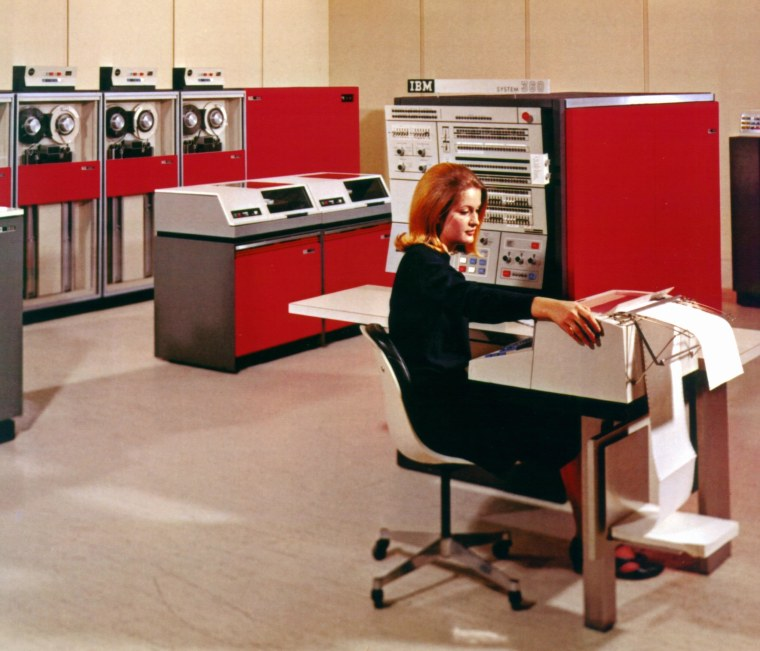 One of the smaller IBM 360 models, which customers could upgrade without rebuilding the software from scratch.