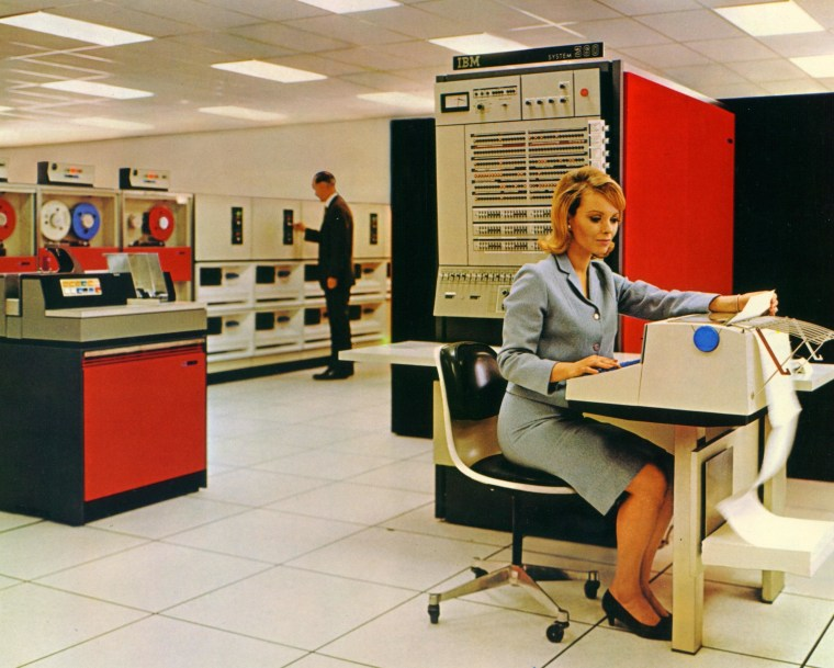 """A larger version of the IBM 360, the """"jewel"""" of the office."""