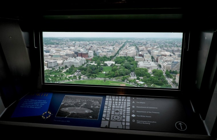 Image: National Parks Service Holds Media Preview Tour Of Washington Monument Prior To Its Reopening