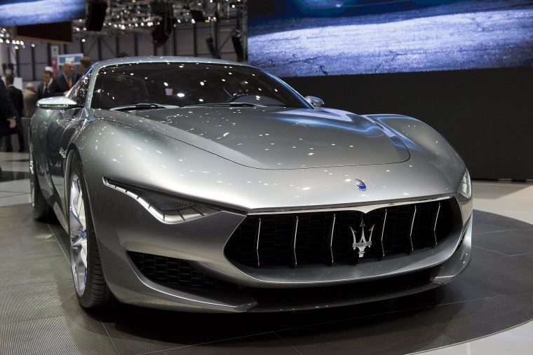 The Maserati Alfieri, one of the new models to come from newly merged Fiat Chrysler Automobiles.