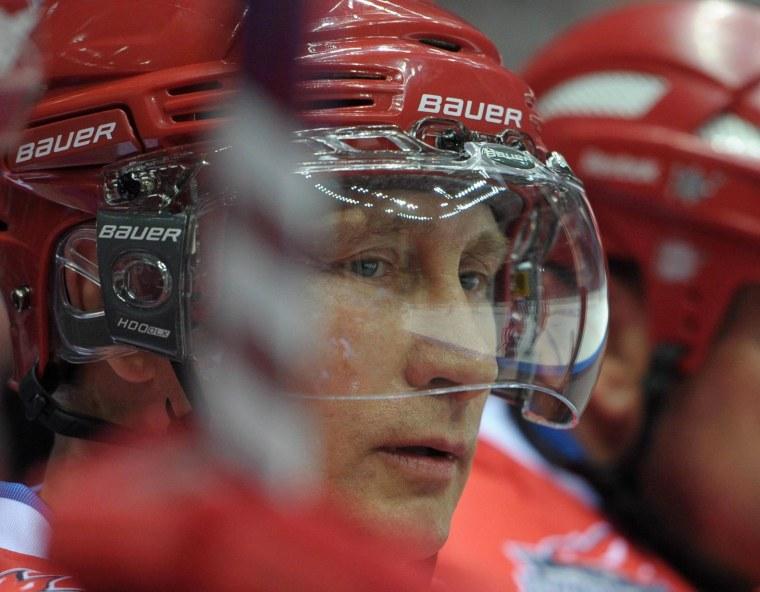 Vladimir Putin Scores Six Goals in All-Star Hockey Game
