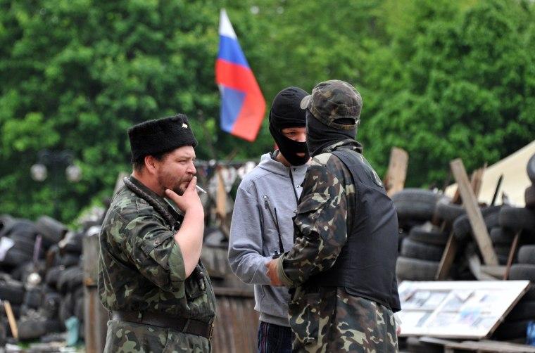 Image: UKRAINE-RUSSIA-POLITICS-CRISIS-DONETSK-PUSHILIN