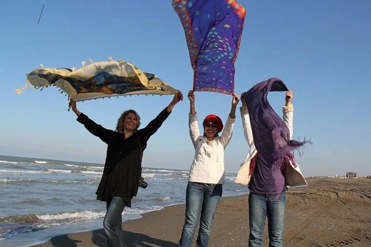 A photo posted on the Stealthy Freedoms of Iranian women Facebook page.