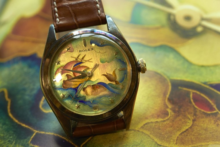 This cloisonne enamel Rolex watch sold at auction for $1.2 million, the most ever for a Rolex.