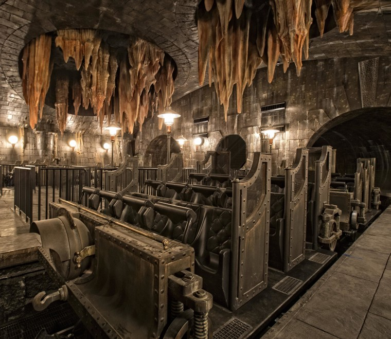 "Image: The ""Harry Potter and the Escape from Gringotts"" ride will send you racing through a labyrinth of underground Gringotts vaults."