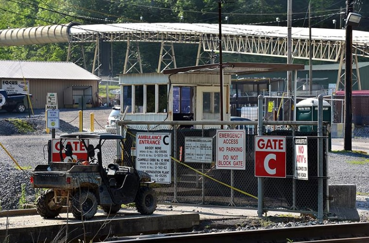 Image: The entrance to Brody Mine No.1 in Wharton, W.Va., is closed on Tuesday