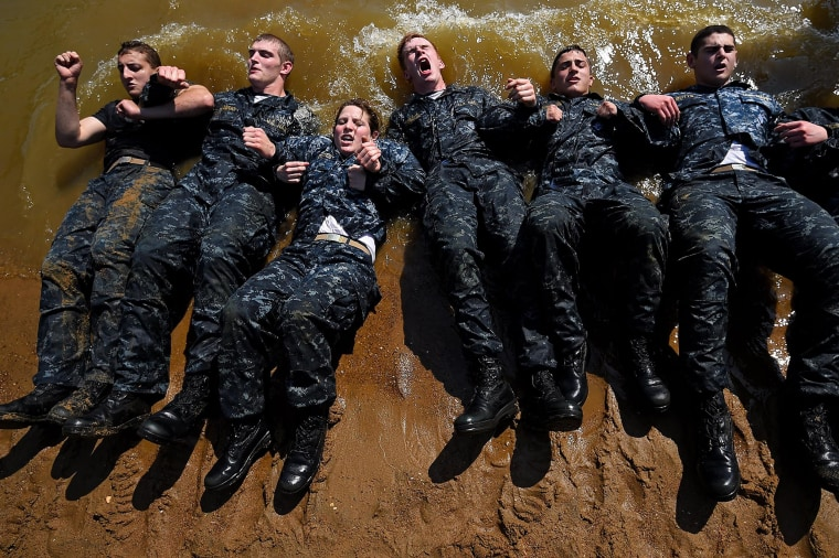 Image: Naval Academy Underclassmen Put Through Grueling Physical Activities During Annual Sea Trials