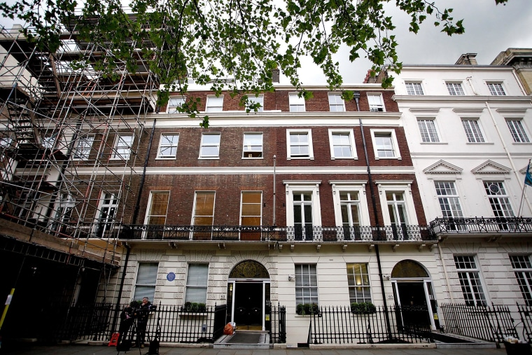 Image: The exterior of The Southbank International School on Portland Place in London