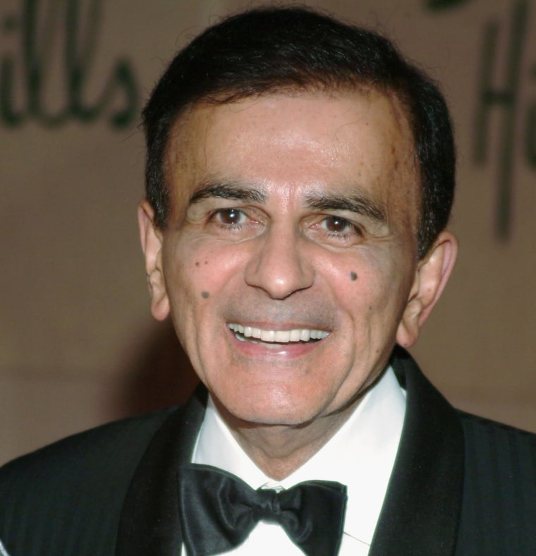 Legendary DJ Casey Kasem arrives at the Museum of Television and Radio's gala tribute to Barbara Walters, held on Nov. 15, 2004 at the Beverly Hills Hotel, in Beverly Hills, Calif.