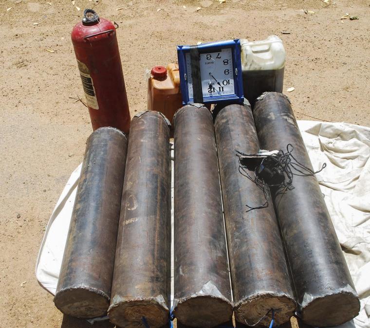 Image: Explosives found in Damaturu, Nigeria