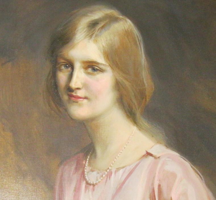 Image: A painting of Huguette Clark inside Bellosguardo, the Huguette Clark estate in Santa Barbara, California.