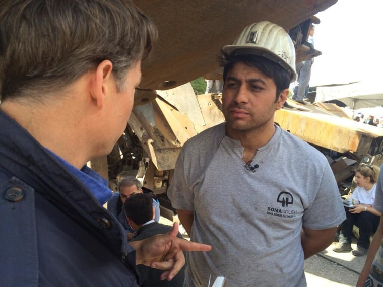 Richard Engel talks with a miner who was in the coal mine when there was an explosion in Soma, Turkey.