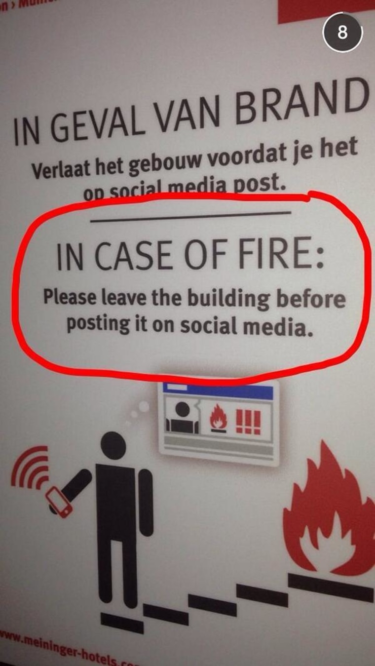 Developer Duncan Riley spied this sign at a Netherlands hotel.