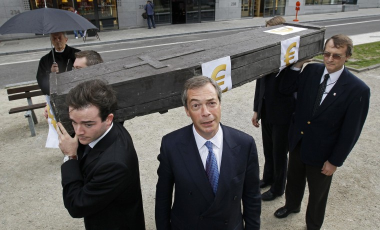 Image: UKIP leader Nigel Farage during a demonstration in June 2011