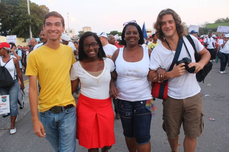 College student Candace King, second from left, spent her spring semester in Havana, Cuba.