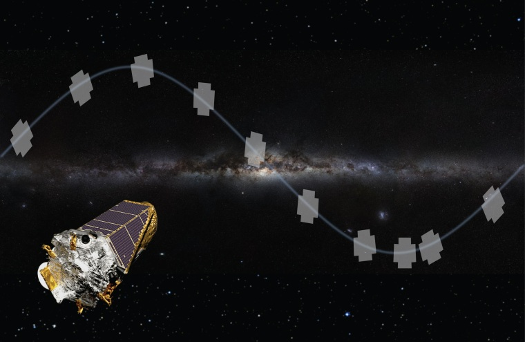 Image: An artistic rendering of the K2 mission