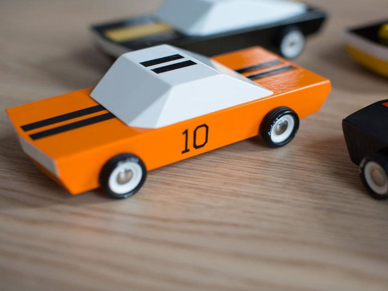 Image: MO-TO Cars crafted from beech wood and hand painted