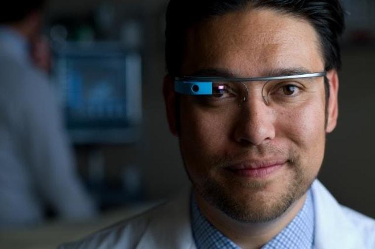 Image: Dr. Warren Wiechmann wearing Google Glass