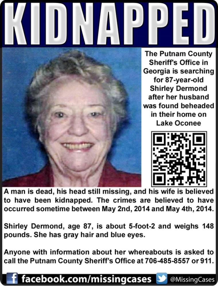 IMAGE: Reward poster for Shirley Dermond