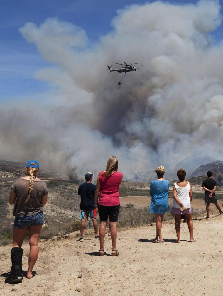 Image: California Wildfires 2014 - Camp Pendleton Talega Fire