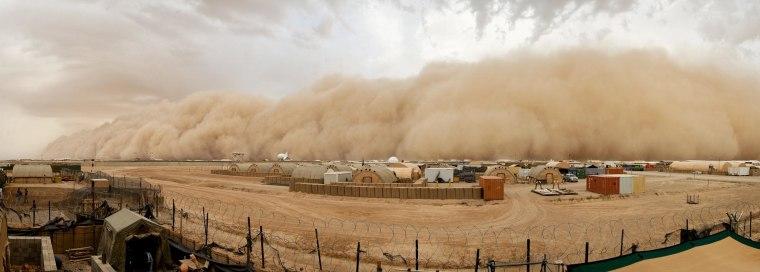 Image: Sand Storm Hits Camp Bastion, Afghanistan