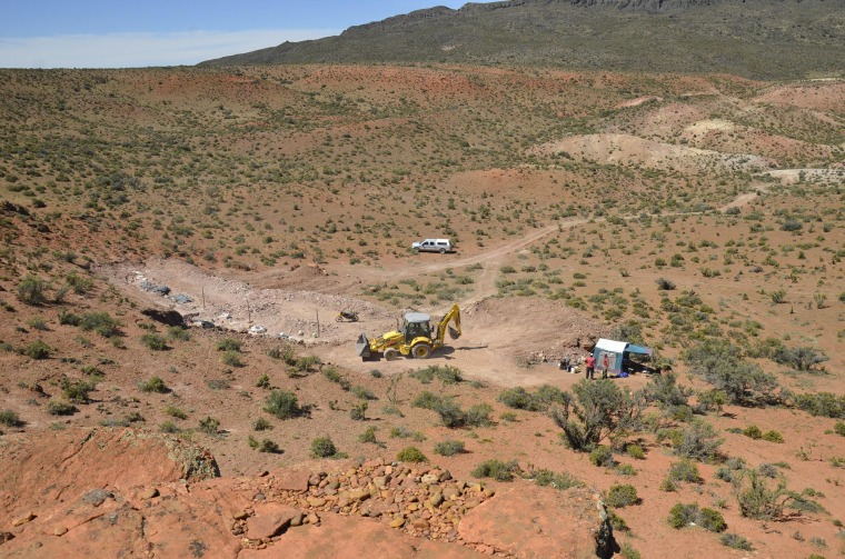 The site where a giant dinosaur was discovered by a team from the Museum of Palaeontology Egidio Feruglio  in Argentina.