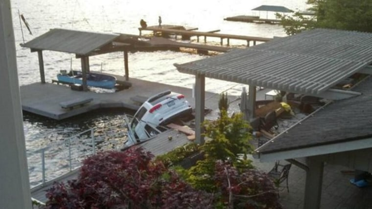 A 68-year-old woman was jailed but later released after she plowed an SUV through a house in Sammamish, Wash., on Friday evening.