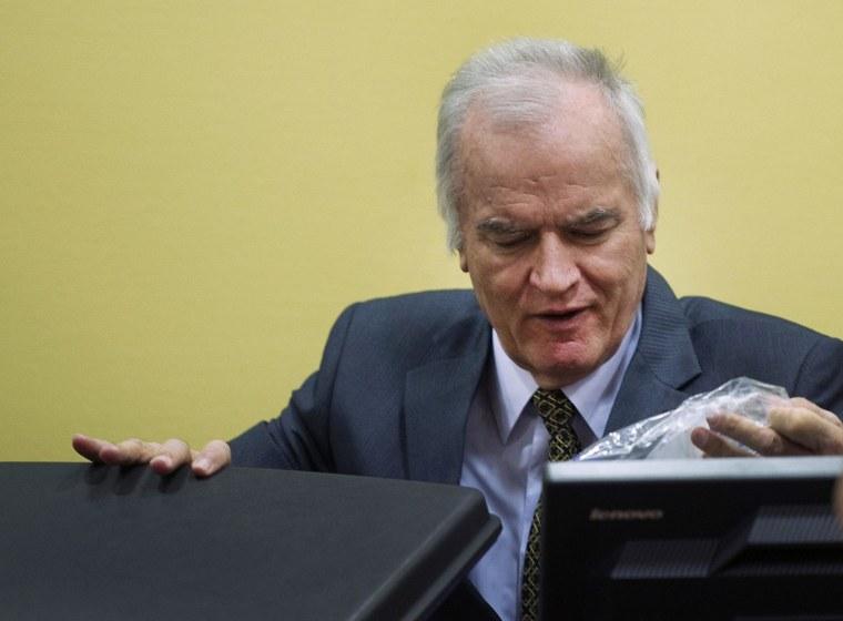 Former Bosnian Serb military commander Gen. Ratko Mladic