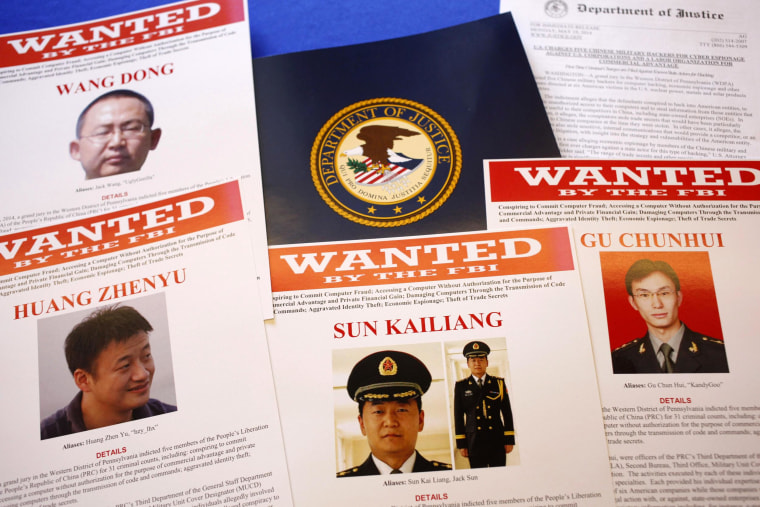Image: Press materials are displayed on a table of the Justice Department in Washington