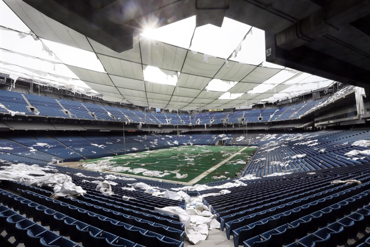 The Silverdome in Pontiac, Michigan is falling down. Its owners are auctioning off pretty much anything and everything inside.