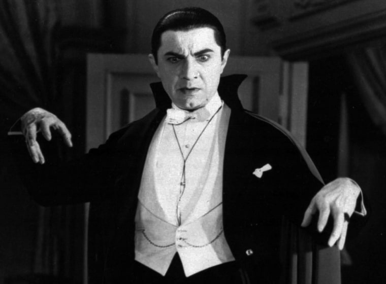 "Image: A movie portrayal of ""Dracula"""