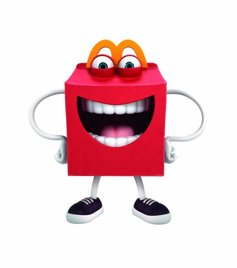 Image: McDonald's unveiled their new mascot, an animated Happy Meal box with teeth.