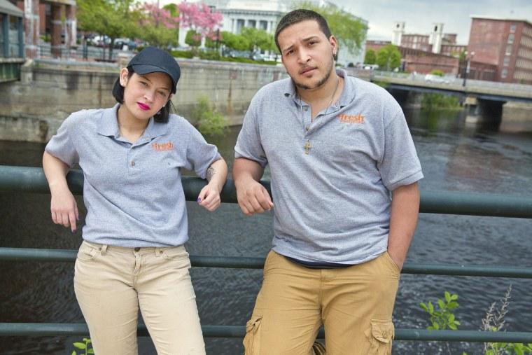 Image: Luis Mateo and Kasandra Vega, both high school dropouts