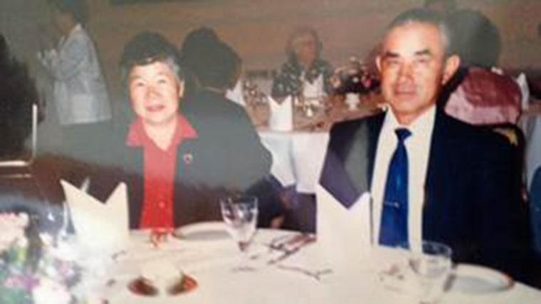 Image: 80-year-old Setsuko Yada and 87-year-old George Yada.