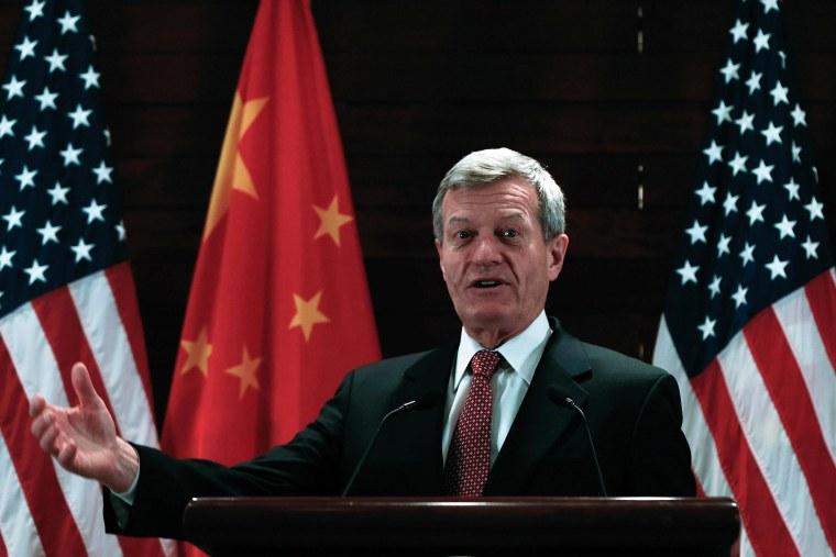 Image: U.S. Ambassador to China Max Baucus