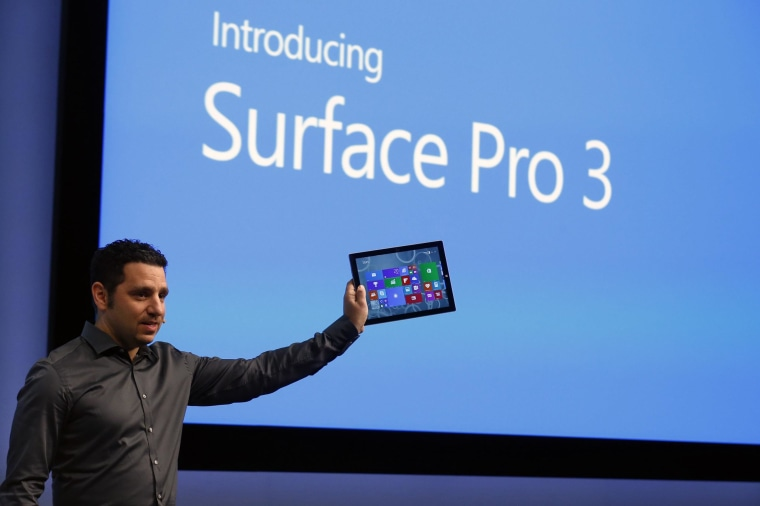 Image: Panos Panay, Corp. Vice President for Surface Computing at Microsoft Corp, unveils the latest models of the Surface tablet in New York