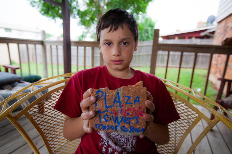 Image: Xavier Delgado, 10, is a 4th grade student at Plaza Towers Elementary School. He was inside Plaza Towers Elementary School in Moore, Oklahoma when the EF5 Tornado hit the school last year.