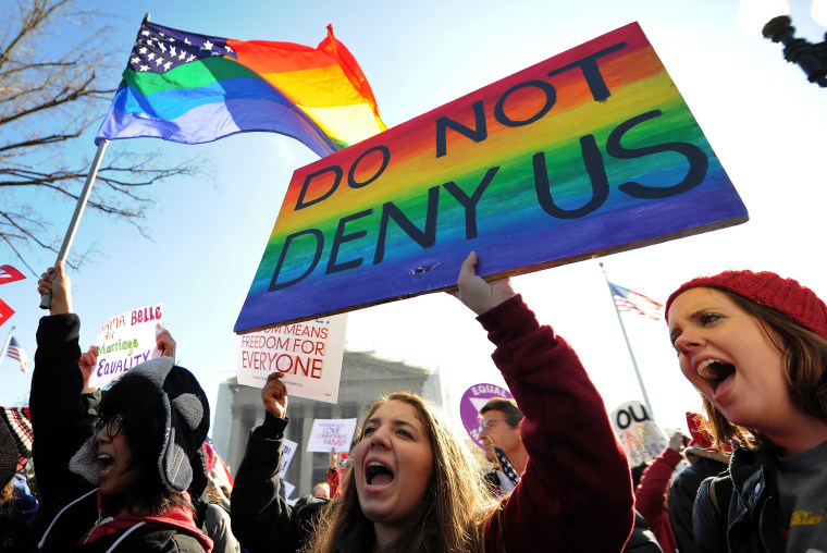 Image: Same-sex marriage supporters shout slogans