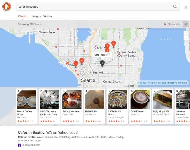 Anonymous Search Engine DuckDuckGo Adds Images, Recipes, Places on need map for driving directions, mapquest driving directions, travelocity driving directions, amazon driving directions, mapblast driving directions,