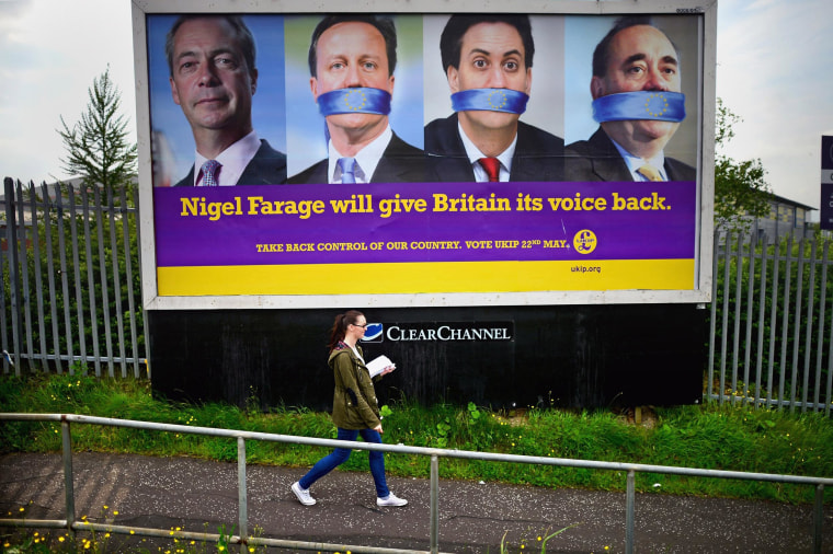 Image: A UKIP election poster in Glasgow
