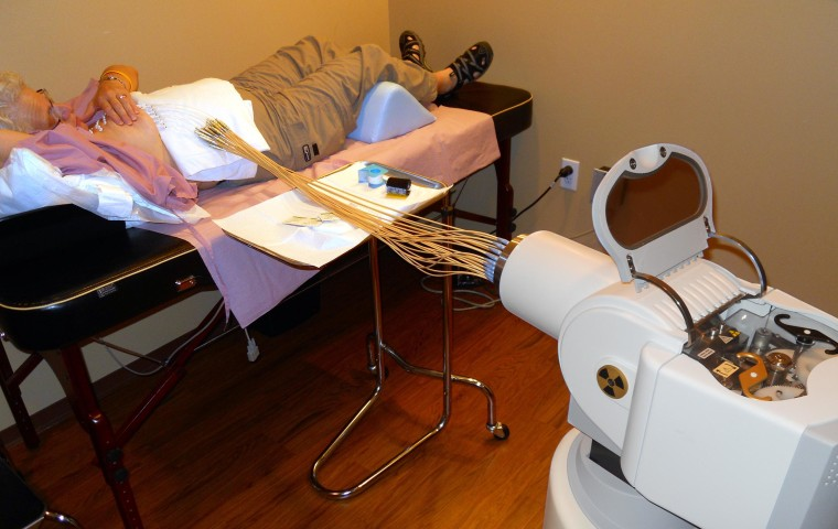 Image: Renee Sussman receives radiation treatment