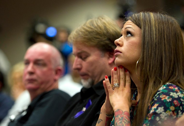 Image: Juliann Ashcraft, widow of Andrew Ashcraft, one of the 19 fallen firefighters from the Yarnell Hill Fire