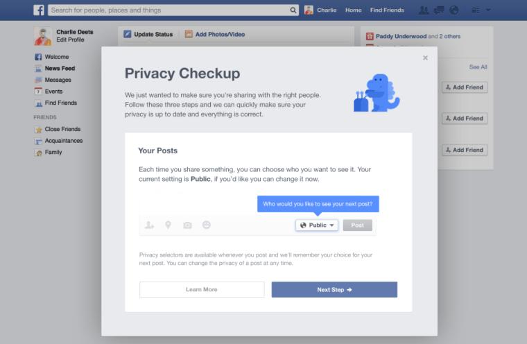 Facebook Privacy Checkup