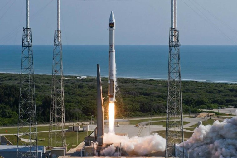 A United Launch Alliance Atlas 5 rocket carrying a payload for the National Reconnaissance Office lifts off from Space Launch Complex 41 at Cape Canaveral Air Force Station in Florida on Thursday.