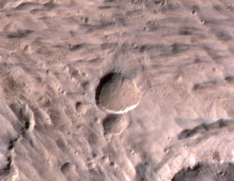 Image: Fresh crater
