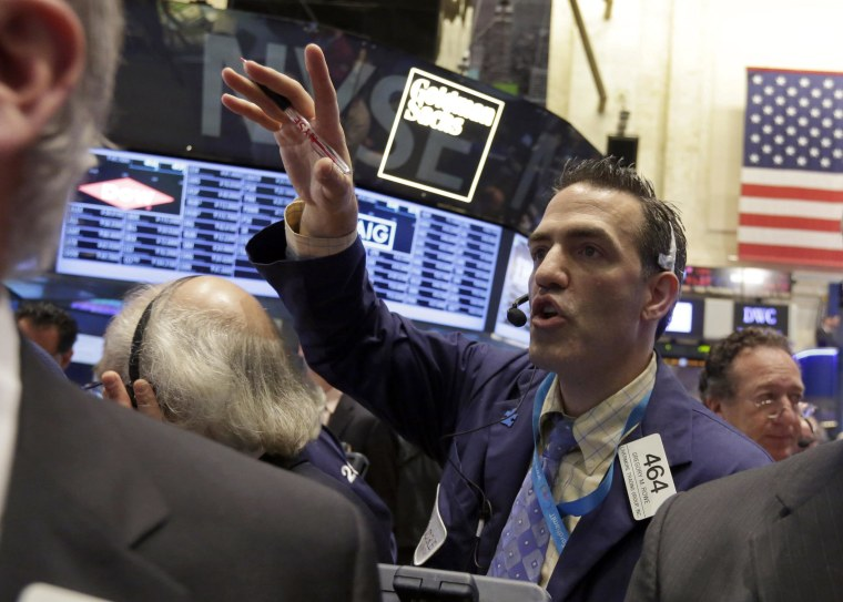 The S&P 500 closed at a record high on Friday as strong new home sales figures drove up stocks.