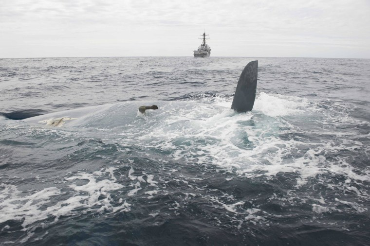 Image: Overturned hull of the Cheeki Rafiki