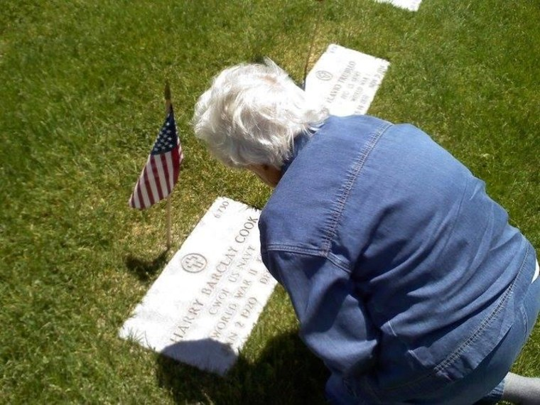 Remembering Harry Barclay Cook at Santa Fe National Cemetery in New Mexico.