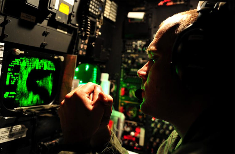 Cathode ray tube displays like this will soon be a thing of the past as the Air Force installs LCD screens and other modern tech in eaco of its 76 B-52 bombers.