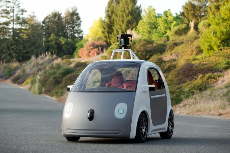 Image: A very early version of Google's prototype self driving car